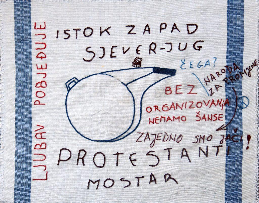 Mostar, Bio grad na Neretvi (detalj sa tapiserije)